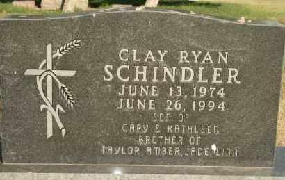 SCHINDLER, CLAY RYAN - Lyman County, South Dakota | CLAY RYAN SCHINDLER - South Dakota Gravestone Photos