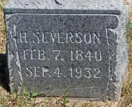 SEVERSON, H. - Lyman County, South Dakota | H. SEVERSON - South Dakota Gravestone Photos