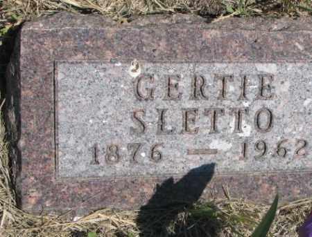 SLETTO, GERTIE - Lyman County, South Dakota | GERTIE SLETTO - South Dakota Gravestone Photos