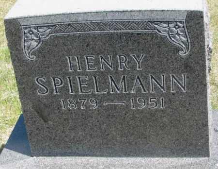 SPIELMANN, HENRY - Lyman County, South Dakota   HENRY SPIELMANN - South Dakota Gravestone Photos
