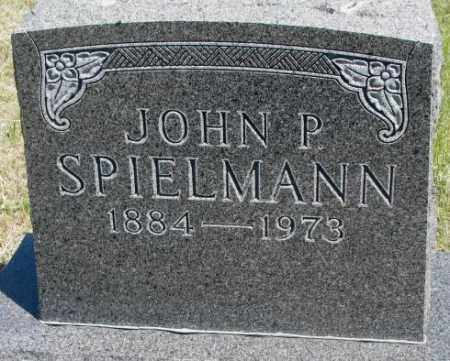 SPIELMANN, JOHN P. - Lyman County, South Dakota | JOHN P. SPIELMANN - South Dakota Gravestone Photos
