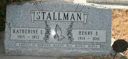 STALLMAN, KATHERINE L - Lyman County, South Dakota | KATHERINE L STALLMAN - South Dakota Gravestone Photos