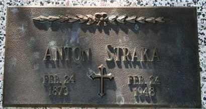 STRAKA, ANTON - Lyman County, South Dakota | ANTON STRAKA - South Dakota Gravestone Photos