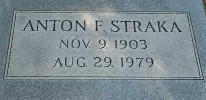 STRAKA, ANTON F - Lyman County, South Dakota | ANTON F STRAKA - South Dakota Gravestone Photos