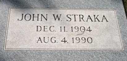 STRAKA, JOHN W - Lyman County, South Dakota | JOHN W STRAKA - South Dakota Gravestone Photos