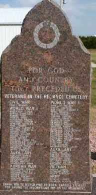 **VETERANS, MEMORIAL STONE #1 - Lyman County, South Dakota | MEMORIAL STONE #1 **VETERANS - South Dakota Gravestone Photos