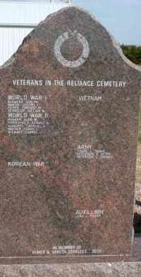 **VETERANS, MEMORIAL STONE #2 - Lyman County, South Dakota | MEMORIAL STONE #2 **VETERANS - South Dakota Gravestone Photos