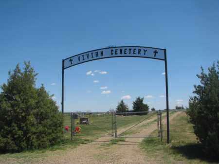 *VIVIAN, ENTRANCE - Lyman County, South Dakota | ENTRANCE *VIVIAN - South Dakota Gravestone Photos