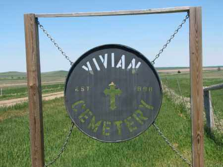 *VIVIAN, SIGN AT ROAD - Lyman County, South Dakota | SIGN AT ROAD *VIVIAN - South Dakota Gravestone Photos