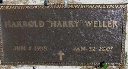 "WELLER, HARROLD ""HARRY"" - Lyman County, South Dakota | HARROLD ""HARRY"" WELLER - South Dakota Gravestone Photos"