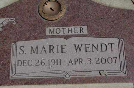 WENDT, S. MARIE - Lyman County, South Dakota | S. MARIE WENDT - South Dakota Gravestone Photos
