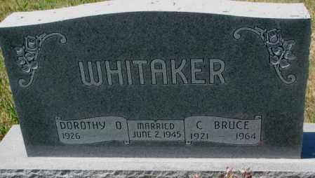 WHITAKER, C. BRUCE - Lyman County, South Dakota | C. BRUCE WHITAKER - South Dakota Gravestone Photos