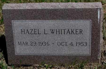 WHITAKER, HAZEL L. - Lyman County, South Dakota | HAZEL L. WHITAKER - South Dakota Gravestone Photos
