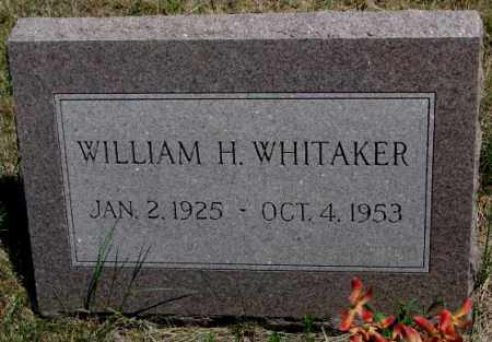 WHITAKER, WILLIAM H. - Lyman County, South Dakota | WILLIAM H. WHITAKER - South Dakota Gravestone Photos