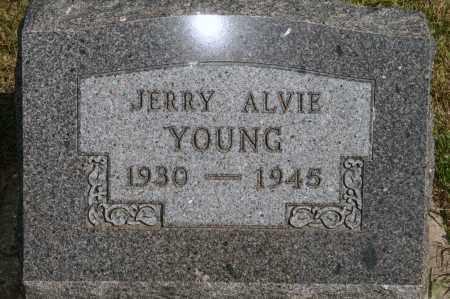 YOUNG, JERRY ALVIE - Lyman County, South Dakota | JERRY ALVIE YOUNG - South Dakota Gravestone Photos