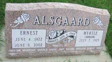 ALSGAARD, ERNEST - McCook County, South Dakota   ERNEST ALSGAARD - South Dakota Gravestone Photos