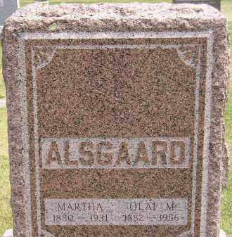 ALSGAARD, MARTHA - McCook County, South Dakota | MARTHA ALSGAARD - South Dakota Gravestone Photos