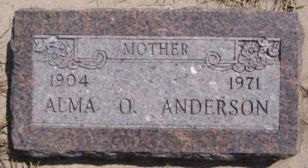 ANDERSON, ALMA O - McCook County, South Dakota | ALMA O ANDERSON - South Dakota Gravestone Photos