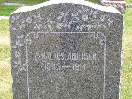 ANDERSON, A. MALKUS - McCook County, South Dakota | A. MALKUS ANDERSON - South Dakota Gravestone Photos