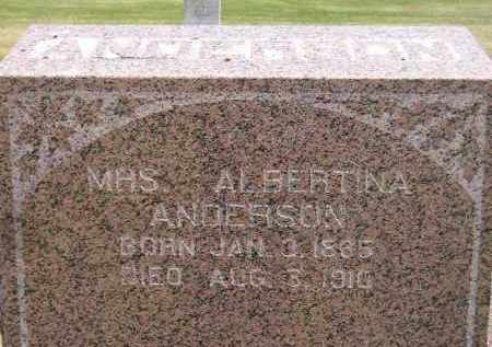 ANDERSON, ALBERTINA - McCook County, South Dakota | ALBERTINA ANDERSON - South Dakota Gravestone Photos