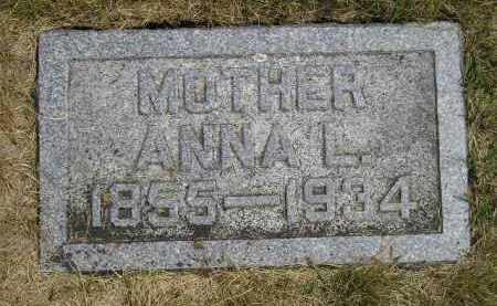 ANDERSON, ANNA L. - McCook County, South Dakota   ANNA L. ANDERSON - South Dakota Gravestone Photos