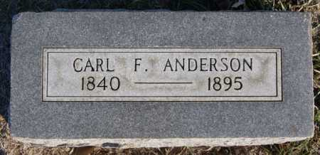 ANDERSON, CARL F - McCook County, South Dakota | CARL F ANDERSON - South Dakota Gravestone Photos