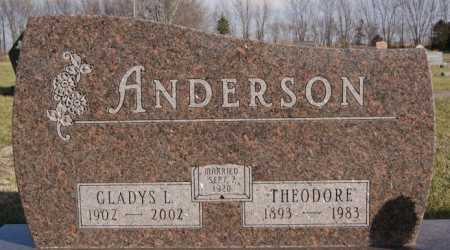ANDERSON, GLADYS L - McCook County, South Dakota | GLADYS L ANDERSON - South Dakota Gravestone Photos