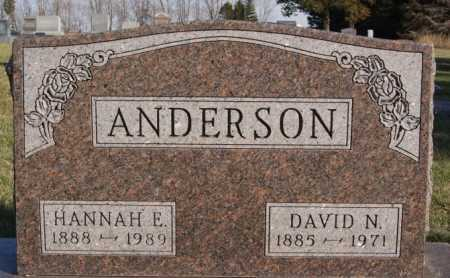 ANDERSON, HANNAH E - McCook County, South Dakota | HANNAH E ANDERSON - South Dakota Gravestone Photos