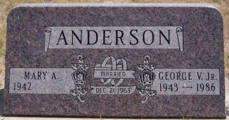 ANDERSON, MARY A. - McCook County, South Dakota | MARY A. ANDERSON - South Dakota Gravestone Photos