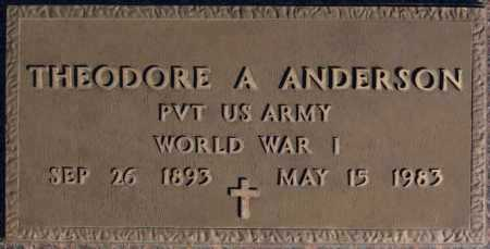 ANDERSON, THEODORE A (WW I) - McCook County, South Dakota | THEODORE A (WW I) ANDERSON - South Dakota Gravestone Photos