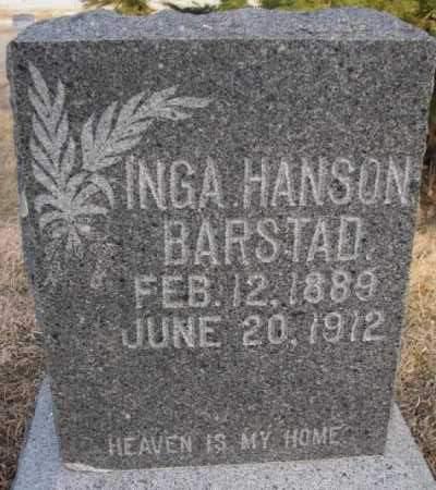 BARSTAD, INGA - McCook County, South Dakota | INGA BARSTAD - South Dakota Gravestone Photos