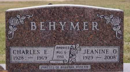 BEHYMER, JEANINE O. - McCook County, South Dakota | JEANINE O. BEHYMER - South Dakota Gravestone Photos