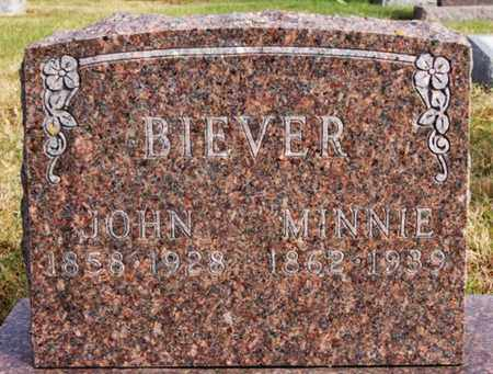 BIEVER, MINNIE - McCook County, South Dakota | MINNIE BIEVER - South Dakota Gravestone Photos