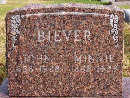 BIEVER, MINNIE - McCook County, South Dakota   MINNIE BIEVER - South Dakota Gravestone Photos