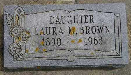BROWN, LAURA M. - McCook County, South Dakota | LAURA M. BROWN - South Dakota Gravestone Photos