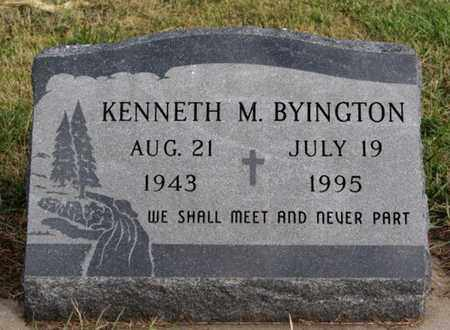 BYINGTON, KENNETH M - McCook County, South Dakota | KENNETH M BYINGTON - South Dakota Gravestone Photos