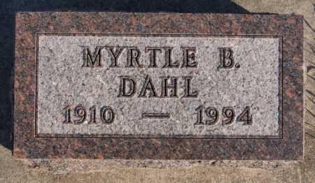 DAHL, MYRTLE B - McCook County, South Dakota   MYRTLE B DAHL - South Dakota Gravestone Photos