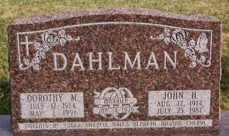 DAHLMAN, DOROTHY M - McCook County, South Dakota | DOROTHY M DAHLMAN - South Dakota Gravestone Photos