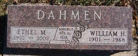 DAHMEN, WILLIAM H - McCook County, South Dakota | WILLIAM H DAHMEN - South Dakota Gravestone Photos