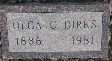 DIRKS, OLGA C. - McCook County, South Dakota | OLGA C. DIRKS - South Dakota Gravestone Photos