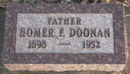 DOONAN, HOMER F. - McCook County, South Dakota   HOMER F. DOONAN - South Dakota Gravestone Photos