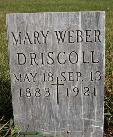 WEBER DRISCOLL, MARY - McCook County, South Dakota | MARY WEBER DRISCOLL - South Dakota Gravestone Photos