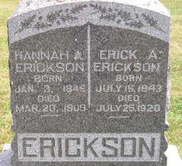 ERICKSON, HANNAH A. - McCook County, South Dakota | HANNAH A. ERICKSON - South Dakota Gravestone Photos