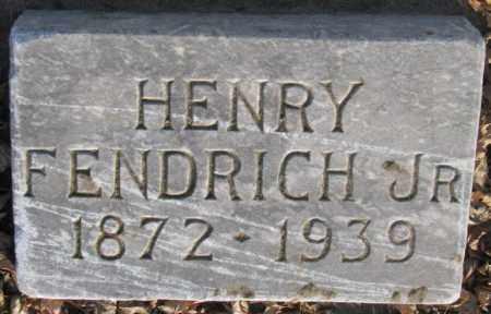 FENDRICH, HENRY JR. - McCook County, South Dakota | HENRY JR. FENDRICH - South Dakota Gravestone Photos