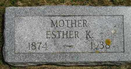 FORSBERG, ESTHER K. - McCook County, South Dakota | ESTHER K. FORSBERG - South Dakota Gravestone Photos