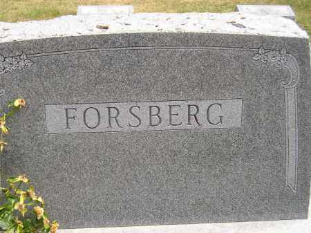 FORSBERG, FAMILY STONE - McCook County, South Dakota | FAMILY STONE FORSBERG - South Dakota Gravestone Photos