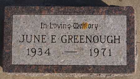 GREENOUGH, JUNE E - McCook County, South Dakota | JUNE E GREENOUGH - South Dakota Gravestone Photos
