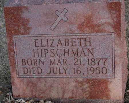 HIPSCHMAN, ELIZABETH - McCook County, South Dakota   ELIZABETH HIPSCHMAN - South Dakota Gravestone Photos