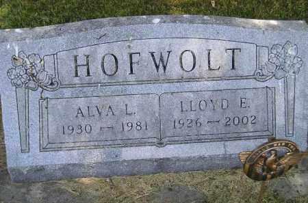 HOFWOLT, ALVA L. - McCook County, South Dakota | ALVA L. HOFWOLT - South Dakota Gravestone Photos
