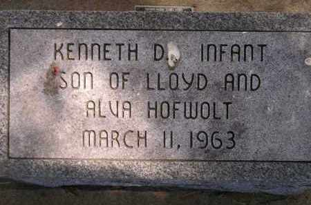 HOFWOLT, KENNETH D. - McCook County, South Dakota | KENNETH D. HOFWOLT - South Dakota Gravestone Photos